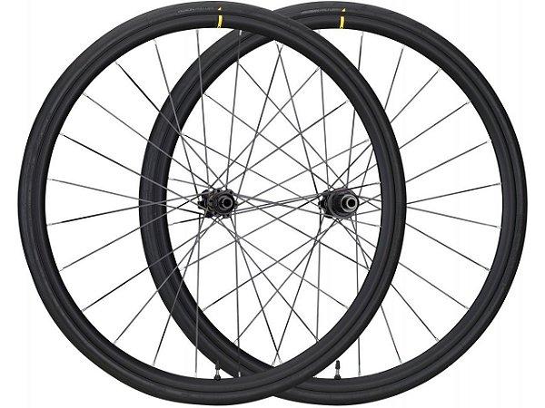 Rodas Speed Mavic Aksium Elite Evo UST Disc Center Lock  (2020) c/ Pneus Yksion Pro 28mm Tubeless