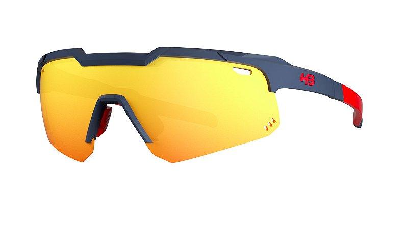 Óculos HB Shield Evo Moutain - Matte Navy / Multi Red