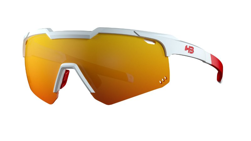 Óculos HB Shield Evo Road - Pearled White / Multi Red