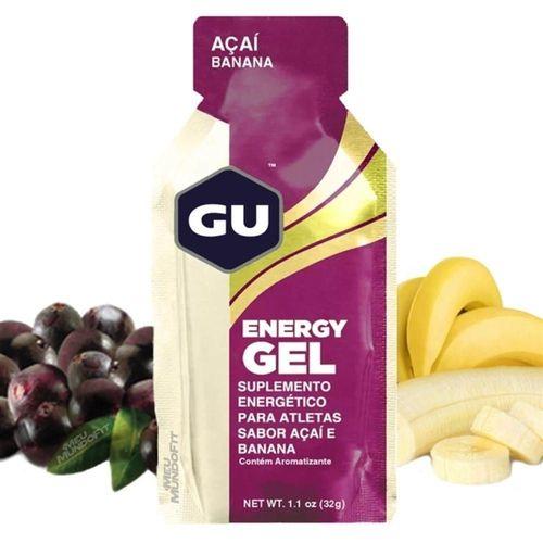 GU Energy Gel - Sabor Açaí com Banana - Caixa c/ 24 Sachês