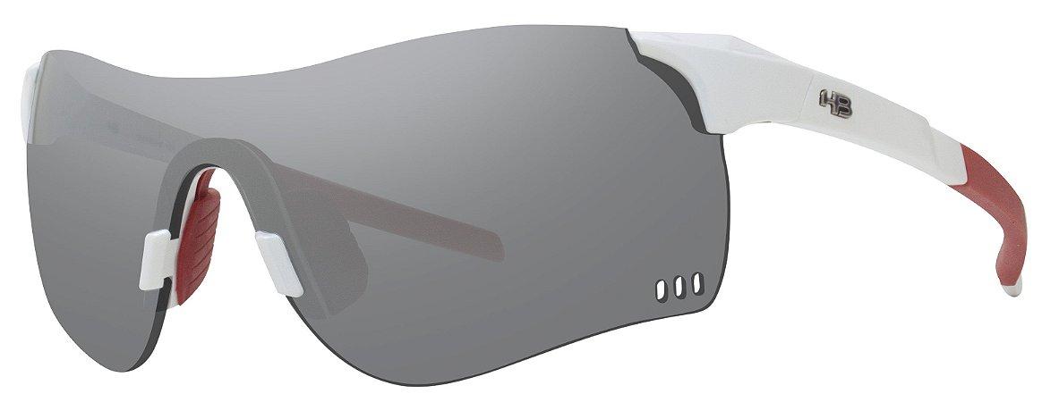 Óculos HB QUAD F - Pearled White Silver