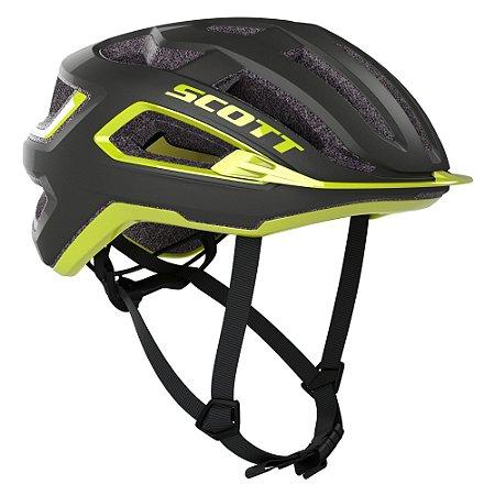 Capacete Ciclismo Scott ARX Plus (CE) 2021 - Cinza Escuro / Radium