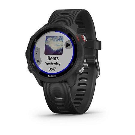 Monitor Cardíaco de Pulso com GPS Garmin Forerunner 245 Music Preto Vermelho