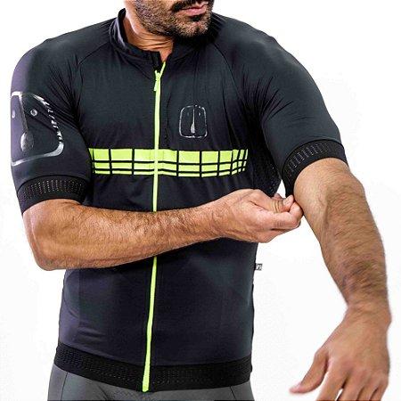 Camisa Ciclismo AHAU Racing Neon - Masculina