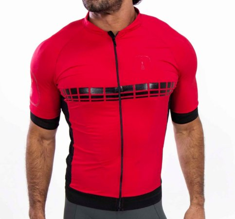 Camisa Ciclismo AHAU Racing Evo Wine - Masculina