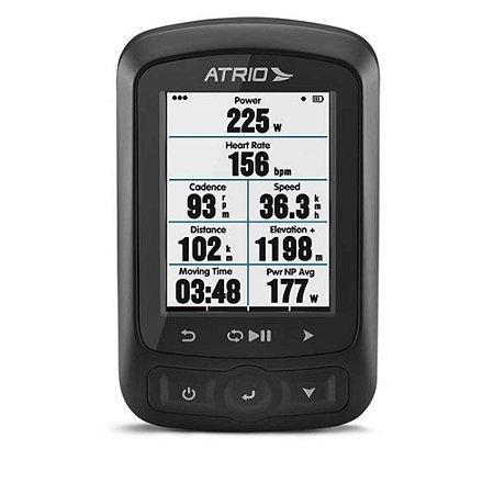 Ciclocomputador c/ GPS Atrio Titanium Bundle - Sensor Cadência + Cinta Cardíaca Bluetooth