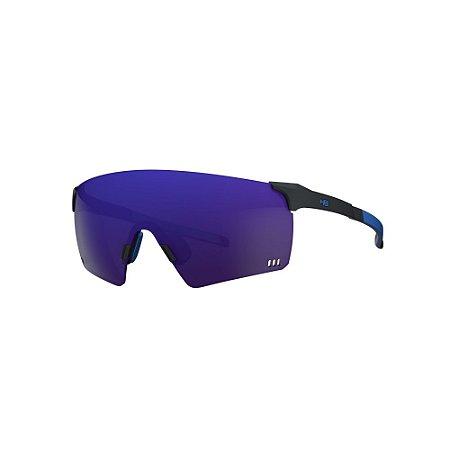 Óculos HB QUAD R Matte Black / Blue Chrome