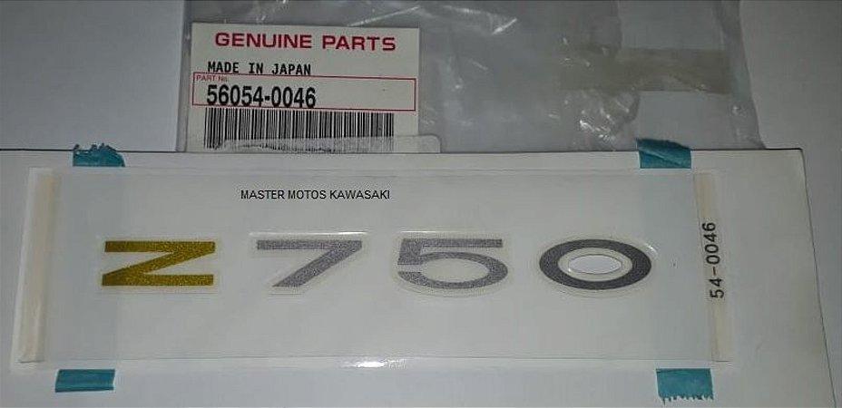 ADESIVO RABETA Z750 2009 a 2012 AZUL E VERDE   56054-0046
