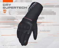 Luva X11 Dry Supertech Moto Impermeável Com Limpador Viseira