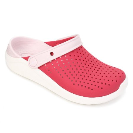 Sandália Feminina Crocs Lite Ride Clog 204592-6EW Rosa