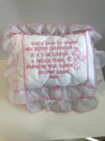 Almofada infantil oração Santo Anjo