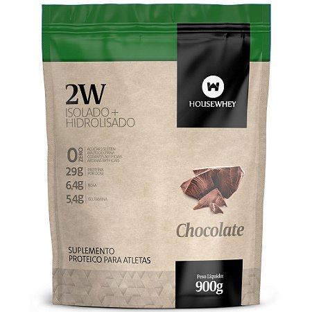 2W - WHEY ISOLADO E HIDROLISADO - CHOCOLATE - 900g