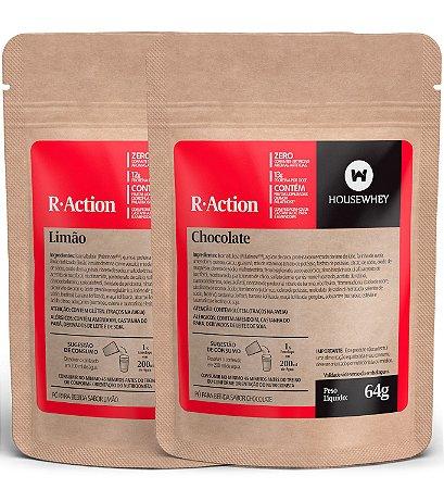 R-ACTION - CHOCOLATE E LIMÃO - caixa mista com 12 sachês de 64g