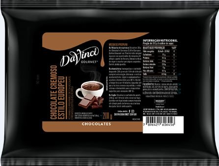 Chocolate Cremoso estilo Europeu - DaVinci - 200g