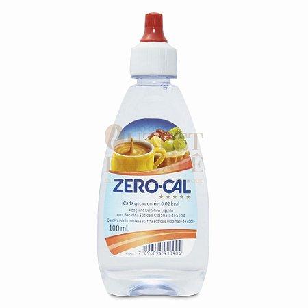 Adoçante Líquido Sacarina Cristal Zero Cal 100ml