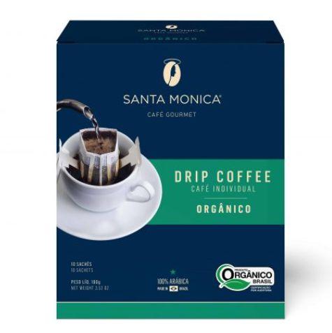 Café Santa Monica Drip Coffee Orgânico - 10 unidades