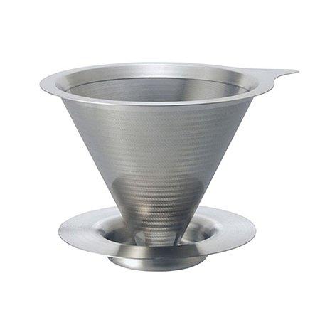 Coador de Café c/ Filtro Permanente - Parede Dupla - Tam.01 - Hario