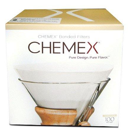 Filtro de papel Chemex Circular 100 unidades - para 6-8 xícaras