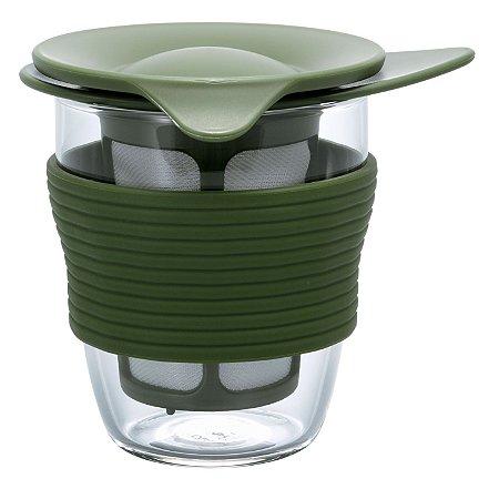 Infusor de Chá Médio Hario - Verde Oliva - 200ml