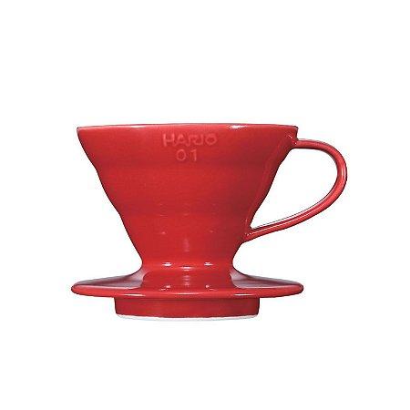 Coador Hario V60 Cerâmica Vermelho Tamanho 01