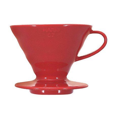 Coador Hario V60 Cerâmica Vermelho Tamanho 02