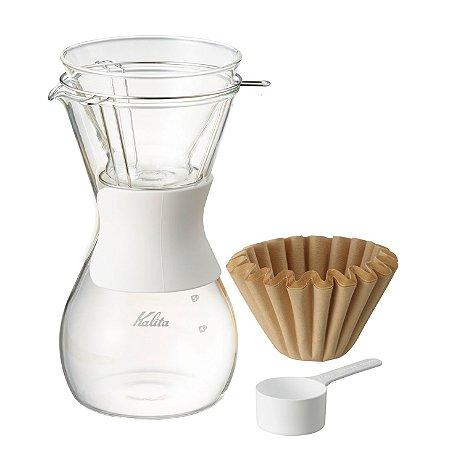 Conjunto para Filtrar Café Kalita Wave 185 600ml