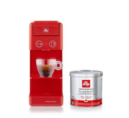 Kit Combo - Máquina Illy Y3.3 - Vermelha - 127v + 04 latas de Cápsulas iperEspresso