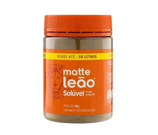 Chá Mate Natural Solúvel Matte Leão - Pote de 50g