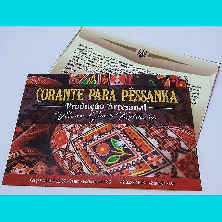 Tinta para pêssanka - corante AZUL TURQUESA