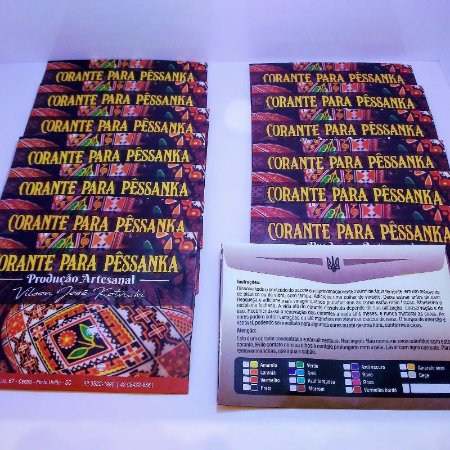 Kit completo de tintas para pêssanka - corante