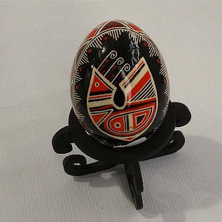 Pêssanka em ovo de galinha - GALO TRIPPILYAN
