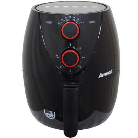 Fritadeira Elétrica Air Fryer Sem Óleo 1400W 4,5L Timer Cesta Antiaderente ARF 1205 - Amvox