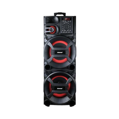 Caixa Amplificada Amvox ACA 1501 Pesadão com Bluetooth, Rádio FM e Entradas AUX/TF CARD/USB -1500W