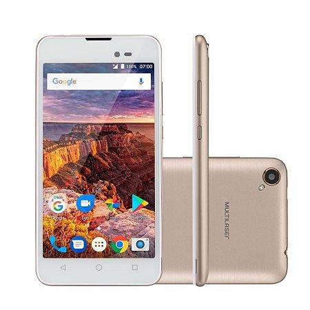 Telefone Celular MS 50L P9052-Dourado/Branco-Multilaser