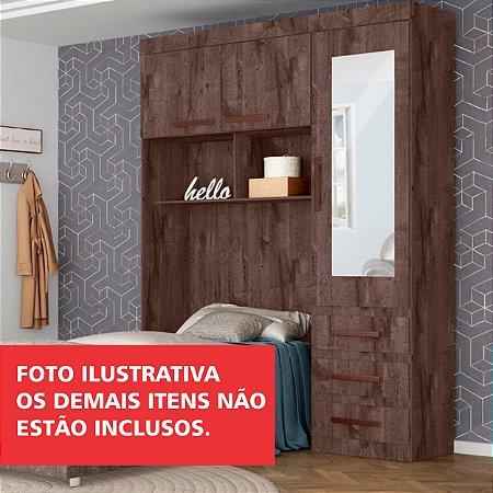 Dormitório Compacto 03 Portas 03 Gavetas Solteiro Alamo/Rústico-Tuboarte