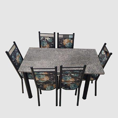Mesa Granito de 6 cadeiras-Kaislianc