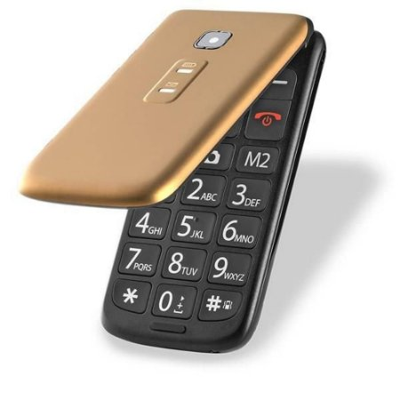 Celular Flip Vita P9043 Dourado-Multilaser