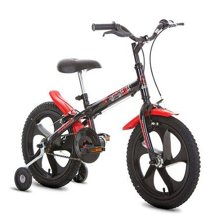 Bicicleta Pix Monotubo Aro 16 Preta-Houston