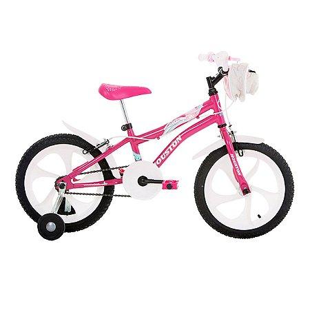 Bicicleta Tina com Bolsa Aro 16 Rosa-Houston