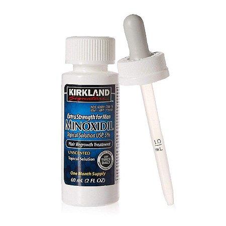 Minoxidil Kirkland 1 Mês de Tratamento 5% - 100% Original