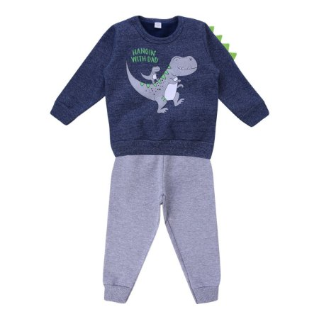 Conjunto Moletom Baby Gijo Blusa Estampa Dinossauros