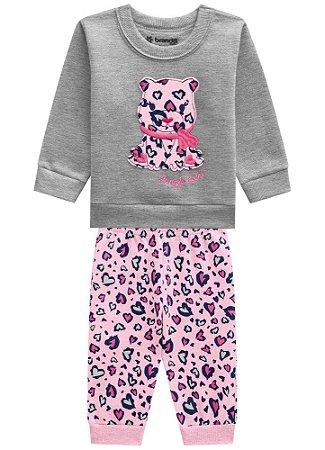 Conjunto Blusão E Calça Jogger Brandili Baby Bebê da Selva