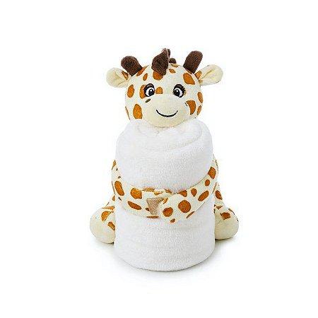 Cobertor e Girafinha de Pelúcia Antialérgico