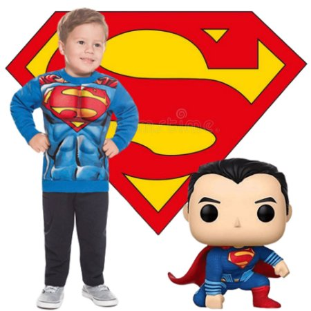 Conjunto Brandili Liga da Justiça Super Homem Licenciado DC Super Friends