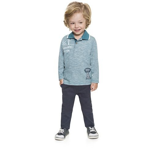Camisa Infantil Brandili Mundi Polo