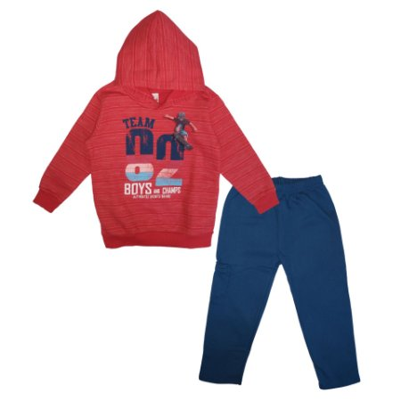 Conjunto Brandili Moletom Team 82 Boys and Champs Vermelho