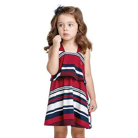 Vestido Elian Verão Infantil Bebê Listrado