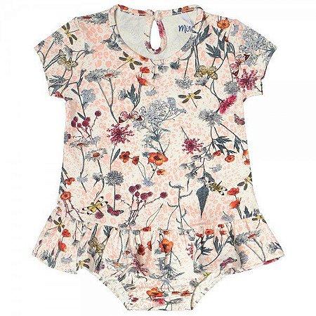Vestido Bebê Menina Floral White Com Calcinha – Minore