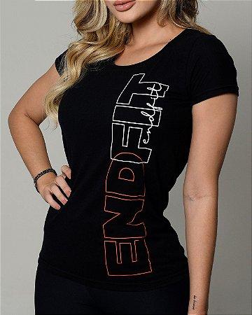 Camiseta Feminina End Fit - Premium Black