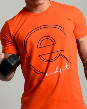 Camiseta Masculina End Fit - Orange Dot
